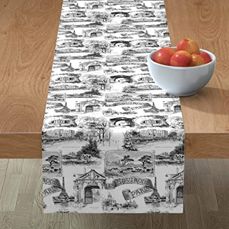 Toile Table Runner French Country French Decor French Table Runner Pink French Table Decor Gender Reveal Toile Table Runner