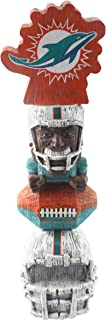 Forever Collectibles NFL Miami Dolphins FigurineTiki Totem, Team Colors, One Size