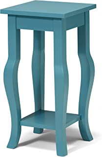 Kate and Laurel Lillian Wood Pedestal End Table Curved...