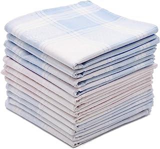 دستمال نخی نرمی برای آقایان با الگوی زیبا در رنگ های متنوع ، 16 اینچ کلوچه های بزرگ