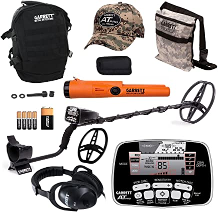 Garrett AT PRO Metal Detector Bonus Pack with Propointer AT, Headphones, Backpack, Pouch