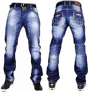 76c317a776c478 Peviani Mens G Jeans Urban Hedge-Star Straight Fit Pants Hip-hop Comfort  Club