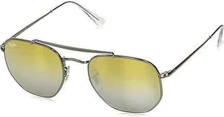 Ray Ban Unisex-Yetişkin Güneş Gözlükleri 0RB MARSHAL 004/I3 51, GUNMETAL\BROWNMIRRORSILVER,