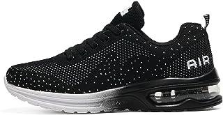 TQGOLD Basket Femme Homme Chaussure de Sport Running Fitness Mode Sneakers Noir Taille