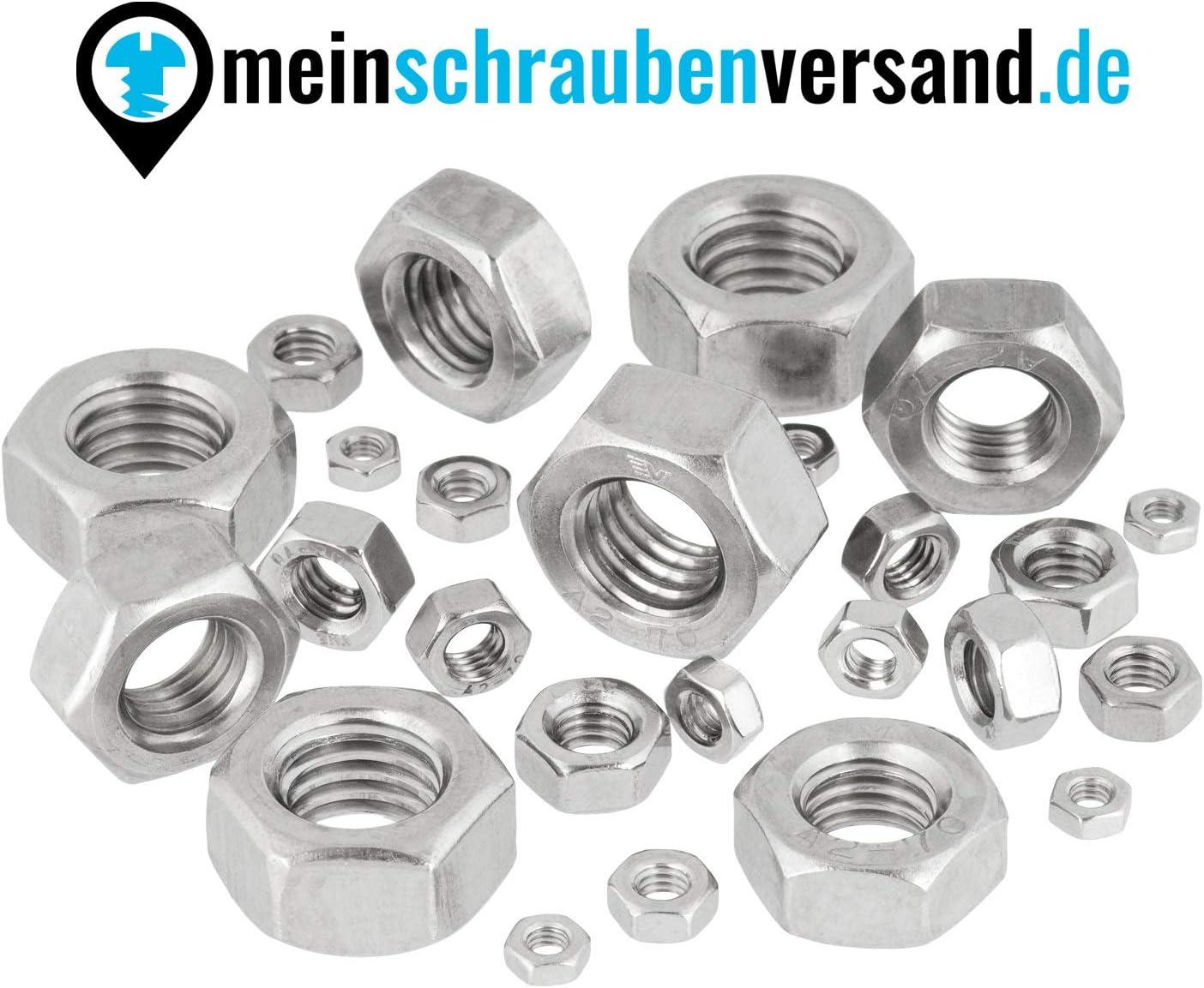 V2A 100 unidades Tuercas hexagonales M3 tuercas de acero inoxidable M3 DIN 934 ISO 4032 A2 versi/ón est/ándar