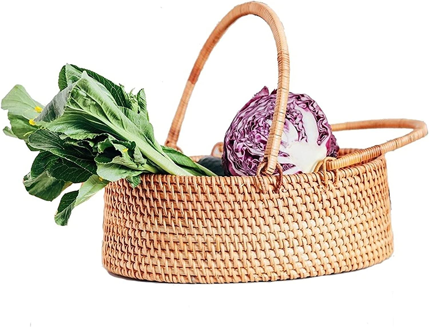 ZHM Handmade 67% OFF of fixed price Rattan Courtyard Outdoor safety Picnic Basket Portab with