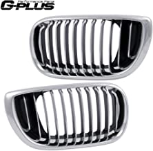 Front Bumper Grille Hood Kidney Sports Grill For 2002-2005 BMW 3 Series E46 Facelift 320i 323i 325i 325xi 328i 330i Silver 2003 2004