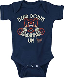 Rookie Wear By Smack Apparel Chicago Football Fans. Bear Down Drink Up Navy Onesie or Toddler Tee (NB-4T)
