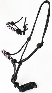 CHALLENGER Nylon Horse Braided Rope Halter Beaded Noseband Lead Rope 606RT02
