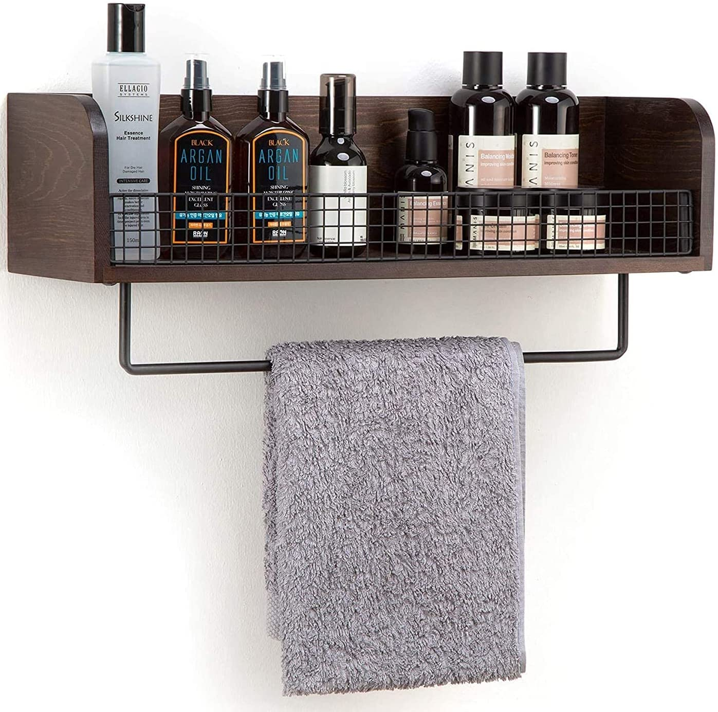 Free shipping on posting reviews J JACKCUBE DESIGN Wall mount Rustic Bathroom Wood Black Reservation Metal