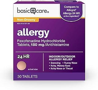 آلرژی مراقبت های اساسی ، قرص Fexofenadine هیدروکلراید ، 180 میلی گرم ، 30 تعداد