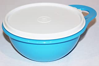 Tupperware (1) Thatsa Bowl Extra Mini 2.5 Cup Taffy Blue and White
