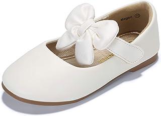 PANDANINJIA Toddler Little Kid Megan Flower Girl Dress Shoes School Wedding  Party Mary Jane Ballet d379f9d84d0e