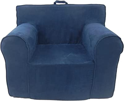 Fun Furnishings The Ultimate Kid's Chair, Navy Blue Micro