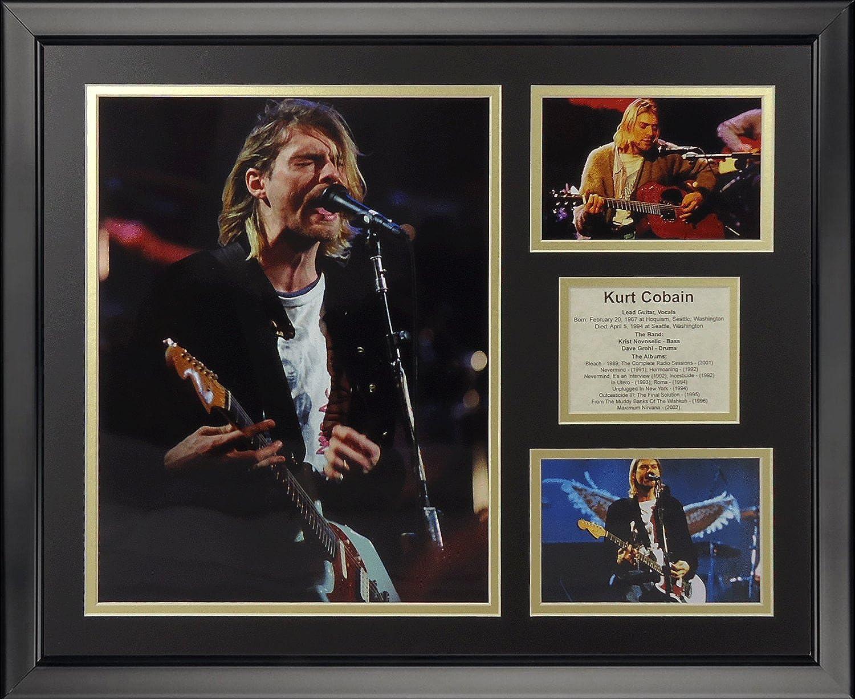 Legends Never Die Kurt Cobain Framed Photo Collage, 16  x 20