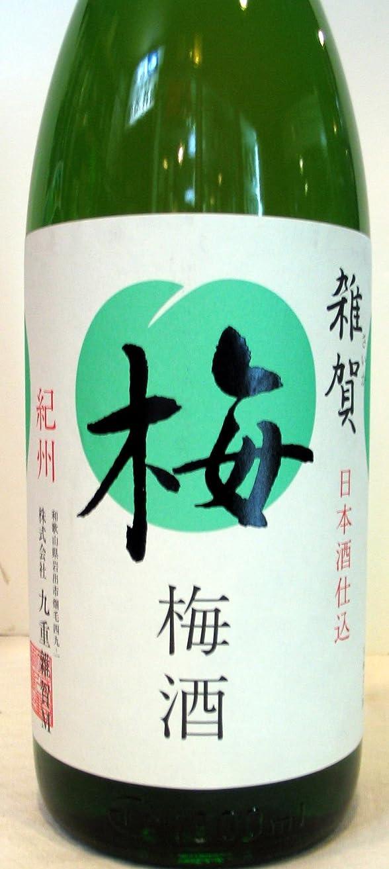 カプラーシャベル標高雑賀梅酒 1800ml入