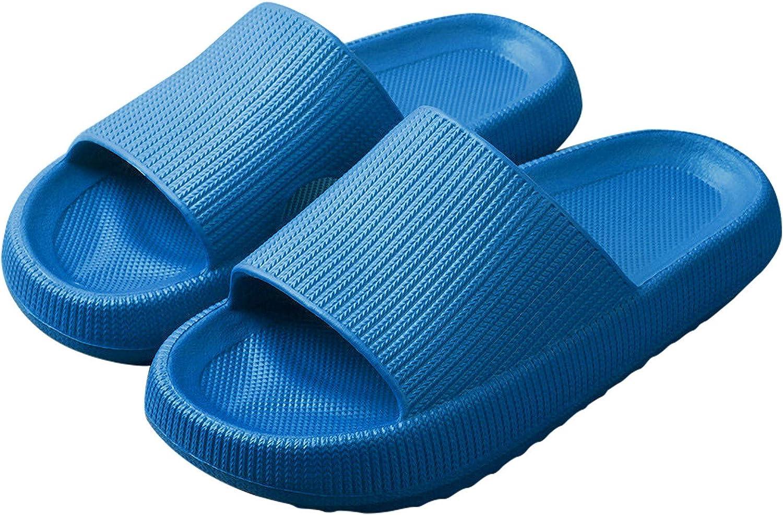 Shower Sandal Slippers Quick Drying Bathroom Slippers Super Soft Sole Open Toe House Slippers for Men Women