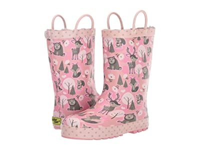 Western Chief Kids Whimsical Woodland Rain Boot (Toddler/Little Kid) (Pink) Girls Shoes