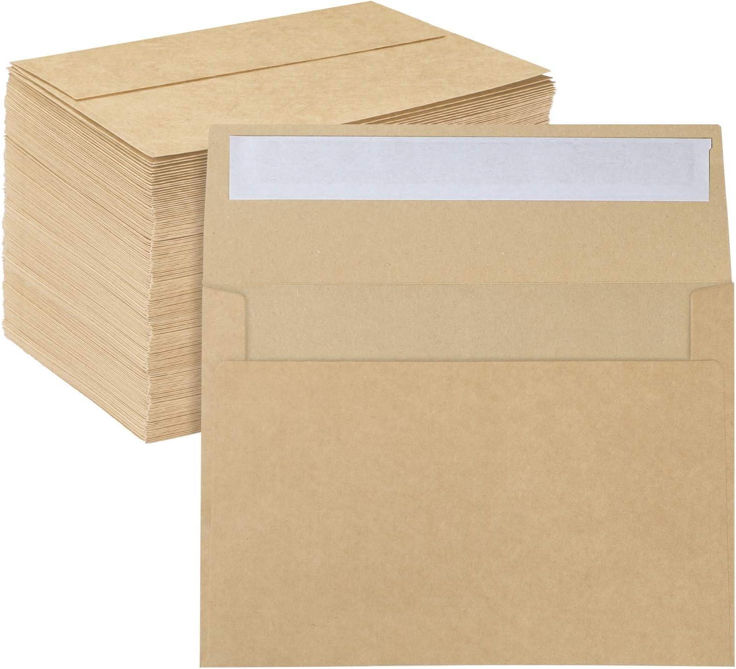 A7 Printable Brown Kraft Envelopes 5x7 Ohuhu 4 Super-cheap 5-1 Pack Boston Mall 150