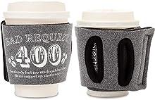 Objectiboo!(オブジェクティブー)通せるカップスリーブ Bad Request ヘザーブラック(保温性・断熱性のある取手付きコーヒースリーブ・コンビニコーヒーカップなどに対応・アイスコーヒーにも使用可)