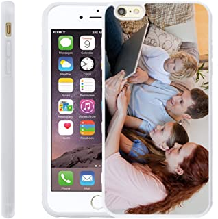 Customize Your Own Phone Case - Personalized Photo Text Logo Back Cover Case for iPhone 6 Plus or 6s Plus,Birthday Xmas Valentines Gift for Her and Him
