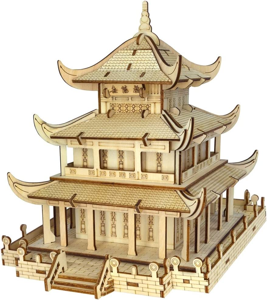 3D Puzzles Jigsaw Rapid Overseas parallel import regular item rise Wooden for Kids Bui and Adults Chinese