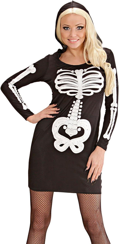 Ladies Glam Skeleton Girl Costume Large UK 1416 for Halloween Fancy Dress