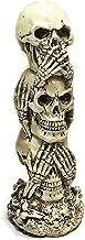 Bellaa 26980 The Hear-no, See-no, Speak-no Evil Skull Statue
