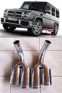 AMG style – Stainless Steel Exhaust Pipe Tips - End Pipes – for G-Class W463 Mercedes-Benz - 2 pcs set