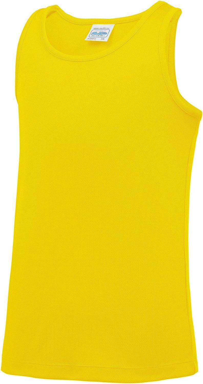 Awdis Just Cool Childrens/Kids Plain Sleeveless Vest Top