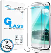 KATIN Galaxy S3 Screen Protector - [2-Pack] for Samsung Galaxy S3 III i9300 Tempered Glass Bubble Free, 9H Hardness with L...