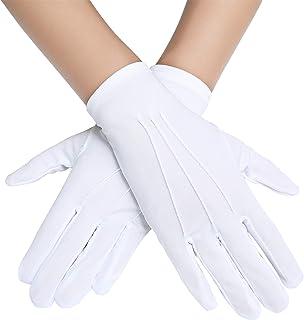 BABEYOND Short Satin Opera Banquet Gloves Wrist Wedding Gloves Dancing Gloves