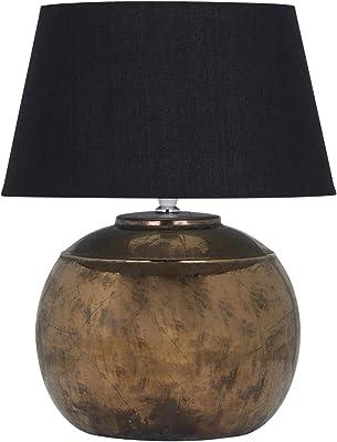 Hill 1975 Regola Lampe de table en céramique métallique Bronze