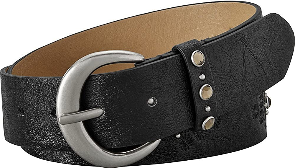 Relic by Fossil High quality new Women's Rhinestone Belt Emboss Jean Same day shipping