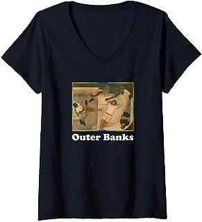 Femme Outer Banks Rainbow Group Shot T-Shirt avec Col en V