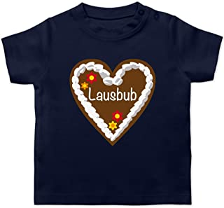 Shirtracer Oktoberfest & Wiesn Baby - Lebkuchenherz Lausbub - Baby T-Shirt Kurzarm