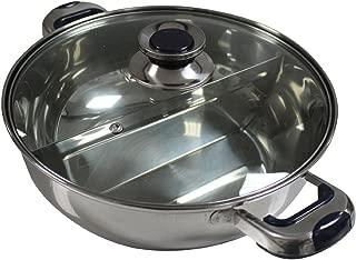 HCX 30 cm Shabu Shabu Dual Sided Hot Pot With Divider