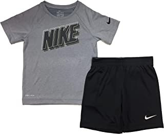 Nike Kids Baby Boy's Dri-Fit Short Sleeve T-Shirt and Shorts Two-Piece Set (Toddler)
