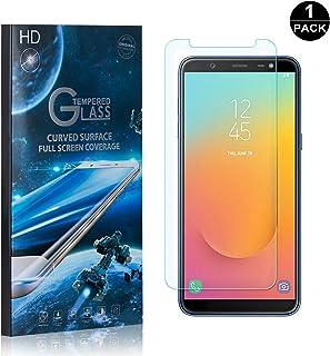 Galaxy J8 2018 Screen Protector Tempered Glass, Bear Village® Perfect Fit & Anti Fingerprint HD Screen Protector Film for Samsung Galaxy J8 2018-1 Pack