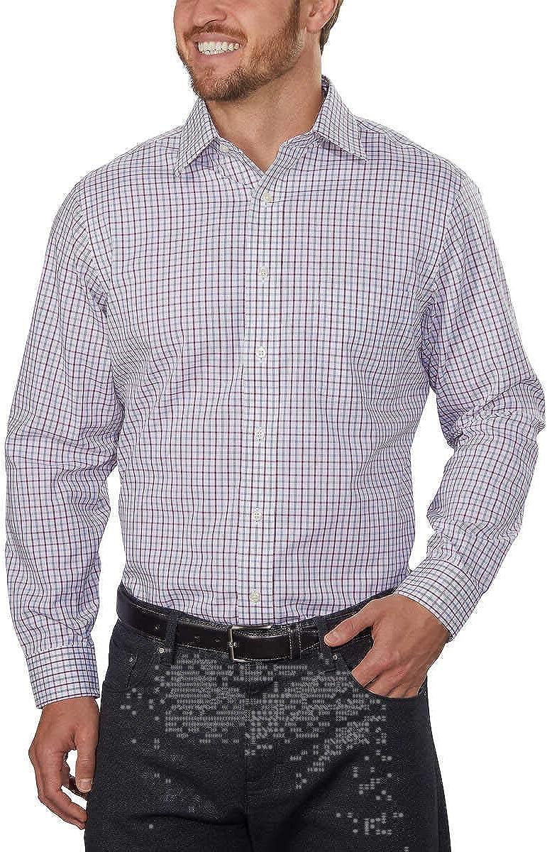 Kirkland Signature - Pantalones de vestir para hombre, 100% lana, con frente plano