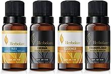 Paquete Serenidad Herbolare 4 aceites esenciales de 5 ml. Tranquilidad, Energía, Blue y Essence de origen 100% natural.