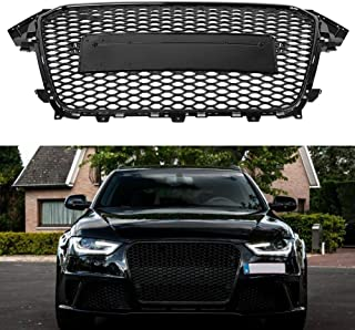 para Audi A4//S4 B8 2009 2010 2011 2012 Delantera Radiador Air Intake Parachoques Accesorios Modificados Grille Negro Brillante Coche Abeja Nido Parrilla Rejilla