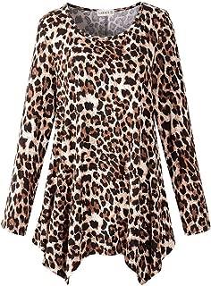 LARACE Women's Long Sleeve Flattering Comfy Tunic Loose Fit Flowy Top