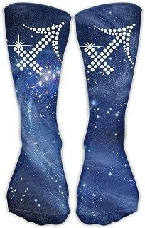 Classics Calcetines de compresión Sagitario Galaxy Personalizados Deportes Atléticos 30 cm de largo Crew Calcetines para hombres y mujeres