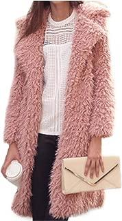 Women New Winter Parkas Faux Fur Warm Coats Vintage Turn Down Collar Female Long Coat Casual Street Wear Lady Outwears