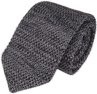 Men's Skinny Knit Tie Vintage Smart Solid Color Formal Necktie for Groom