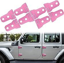 Door Hinge Trim Cover Exterior Accessories Fit for 2018 2019 2020 2021 Jeep Wrangler JL JLU & Gladiator JT - 8PCS (Pink)