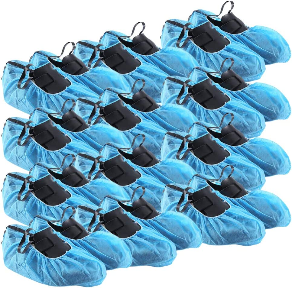 Exceart 50 Sales Pairs Shoe Covers Anti Cove Max 53% OFF Static Reusable Slip Boot