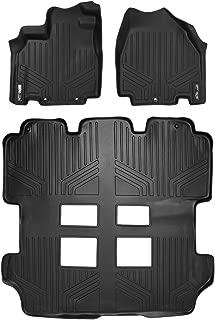 MAXLINER Custom Fit Floor Mats 3 Row Liner Set Black for 2011-2017 Honda Odyssey - All Models