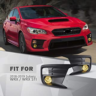 Winjet Fog Light Assembly for 2018-2020 Subaru WRX,Fog Light Replacement with Switch and Wiring Kit and H16 12V Bulbs,Yellow Lens(Left And Right)